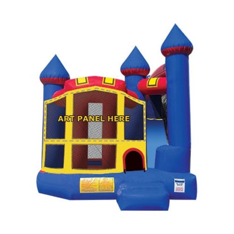 Large Bouncy Castle & Slide (Blue)